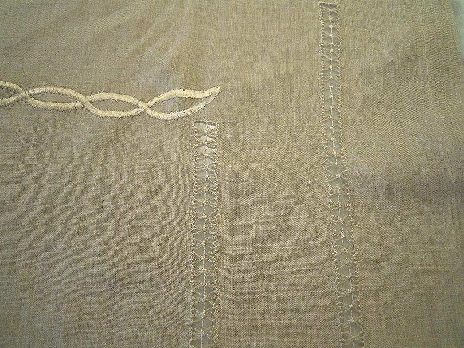 Beige linen tablecloth
