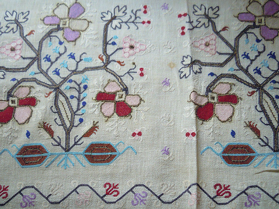Hand-stitched two-sided runner -OOAK-