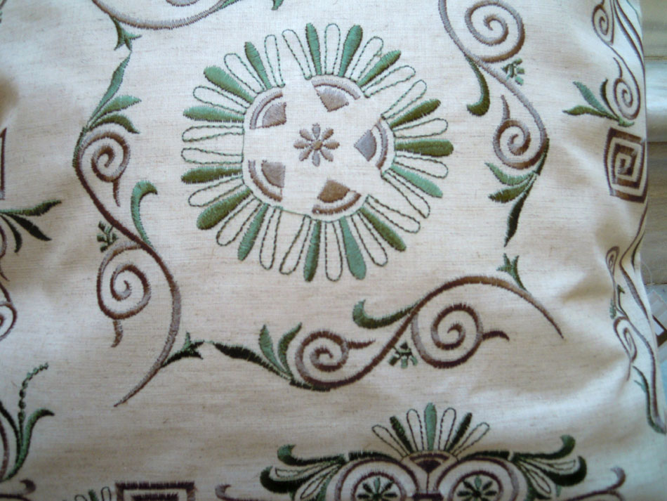 Embroidered traditional cushion cover