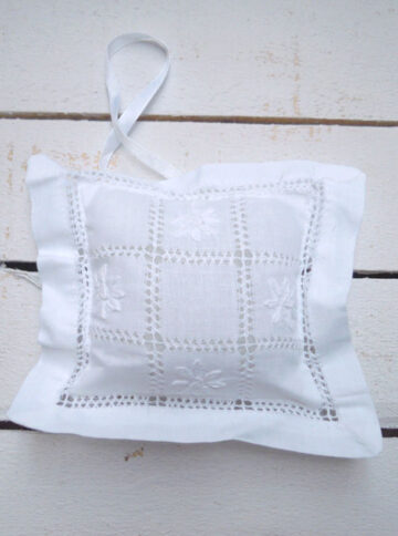 Embroidered little cushion