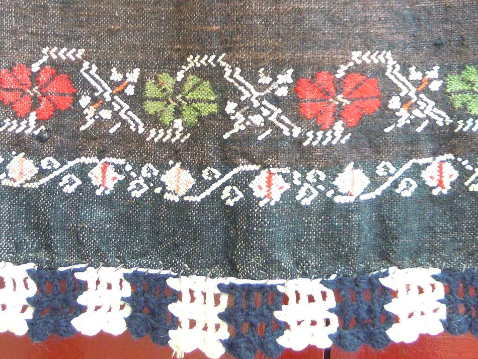 Traditional handwoven apron
