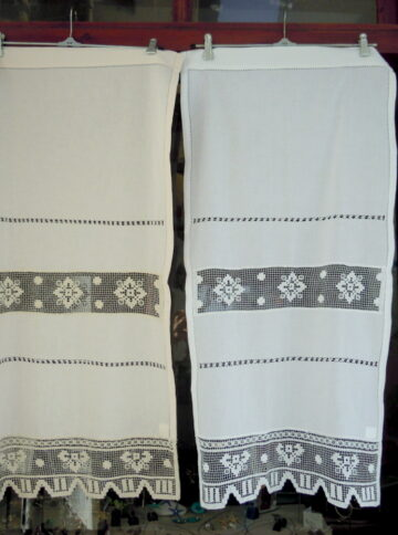 Greek traditional crochet curtain