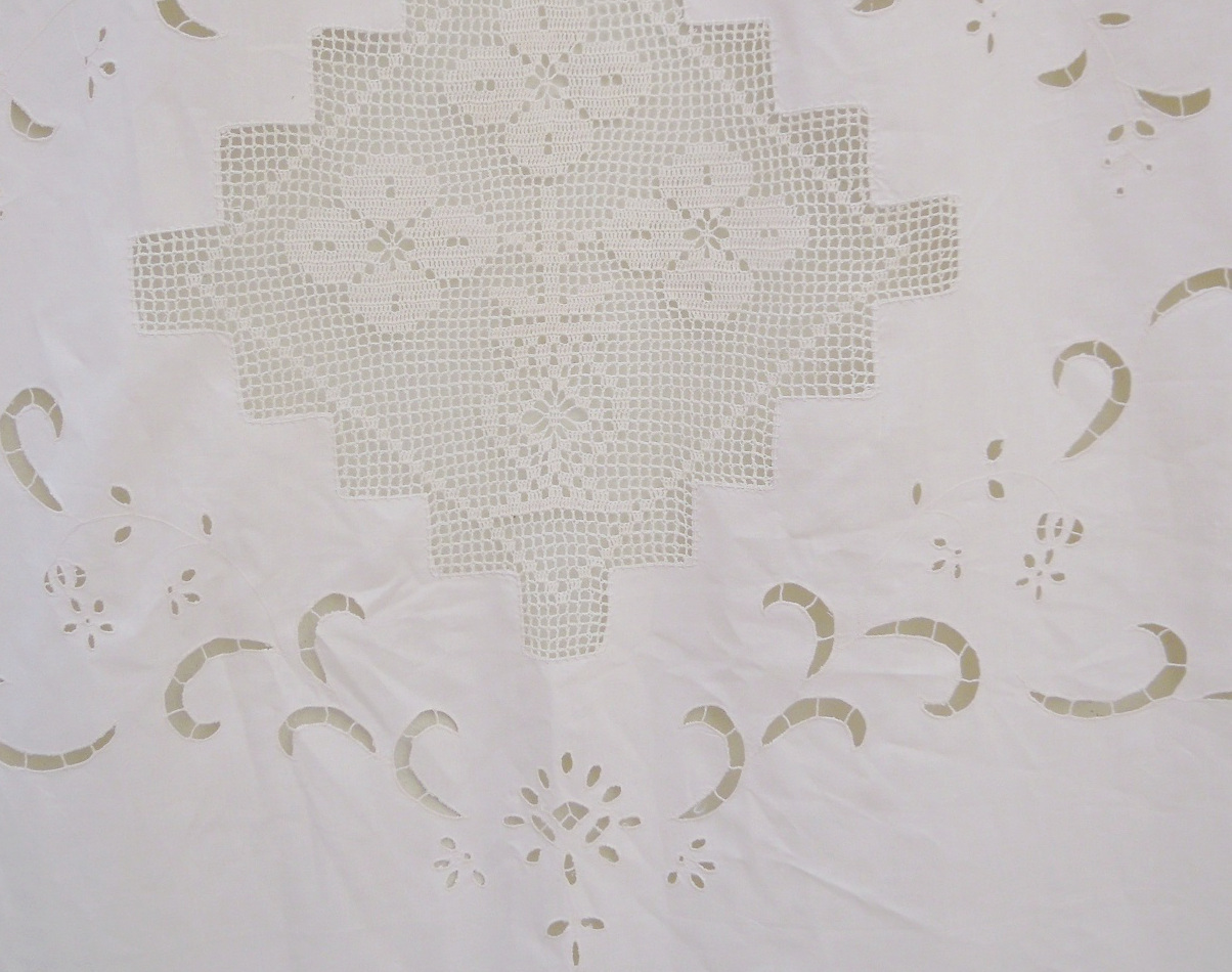 Beige greek traditional cutwork curtain-butterfly