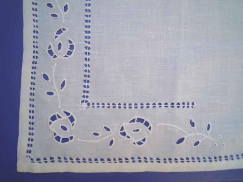 Handmade cutwork napkin