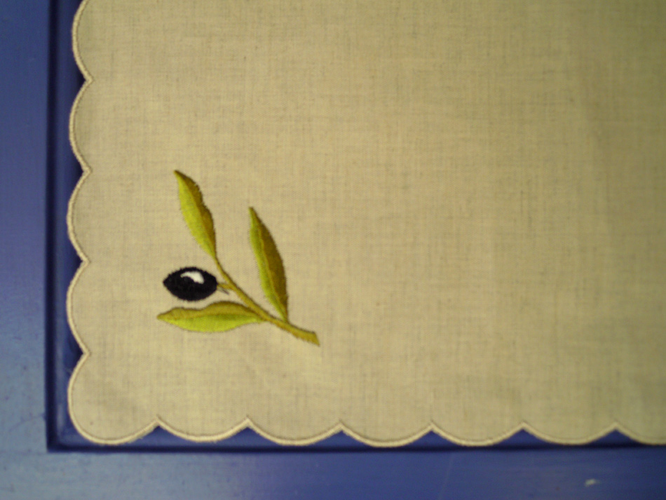Beige napkin with embroidery