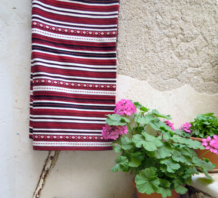 Traditional woven throw/ bed cover