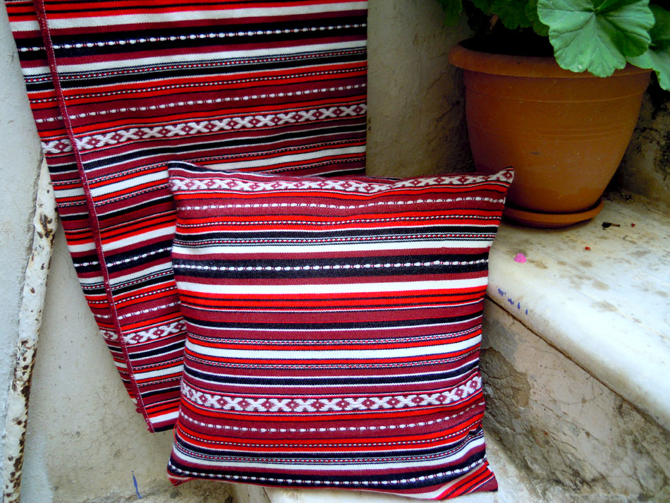 Traditional woven cushion