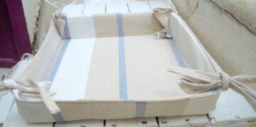Striped bread basket