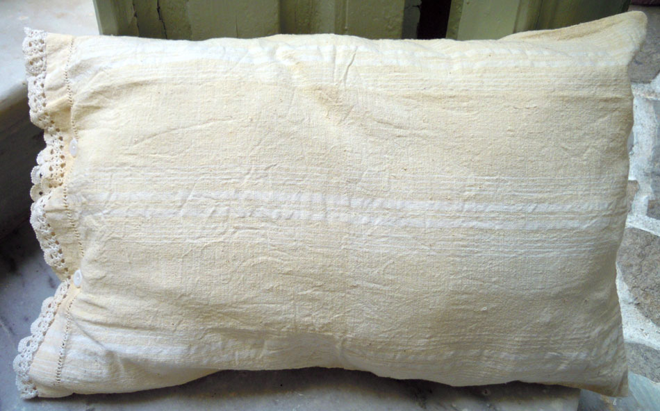 Vintage hand woven pillow case
