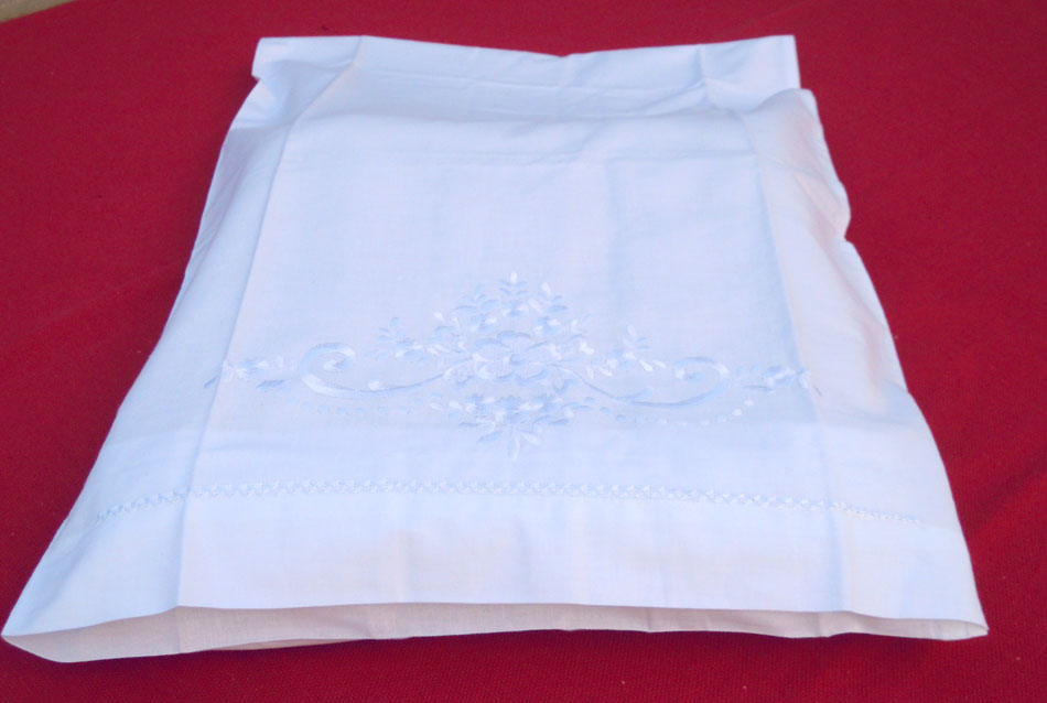 Embroidered traditional pillow case