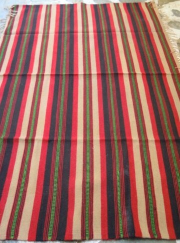 Vintage kilim in the loom