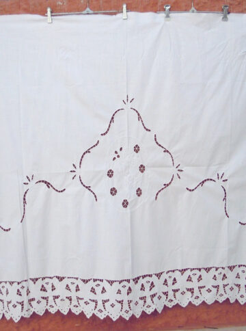 Vintage handmade cutwork curtain
