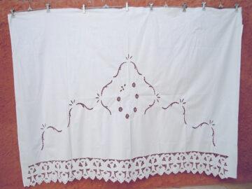Vintage handmade cutwork curtain