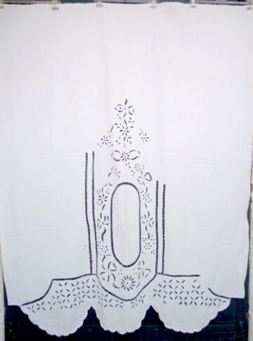 Vintage handmade cutwork curtains