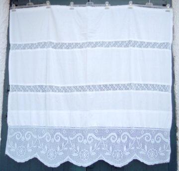 Vintage handmade curtain with crochet