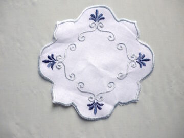 Coasters with embroidery