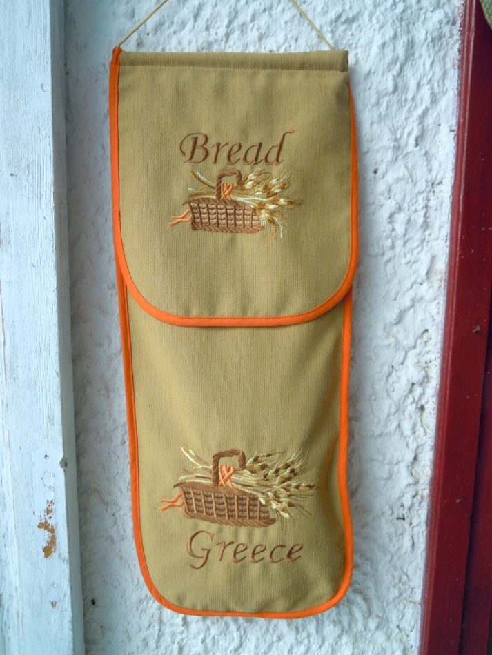 Embroidered bread bag