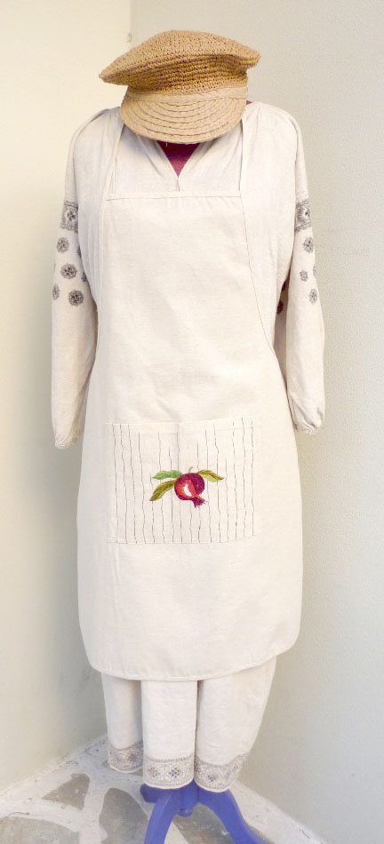 Embroidered apron for the kitchen