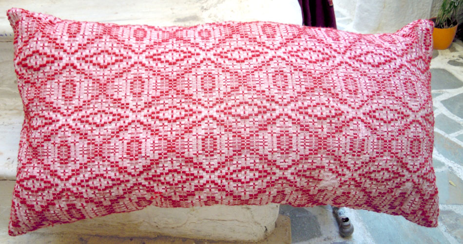 Vintage handwoven wool cushion cover