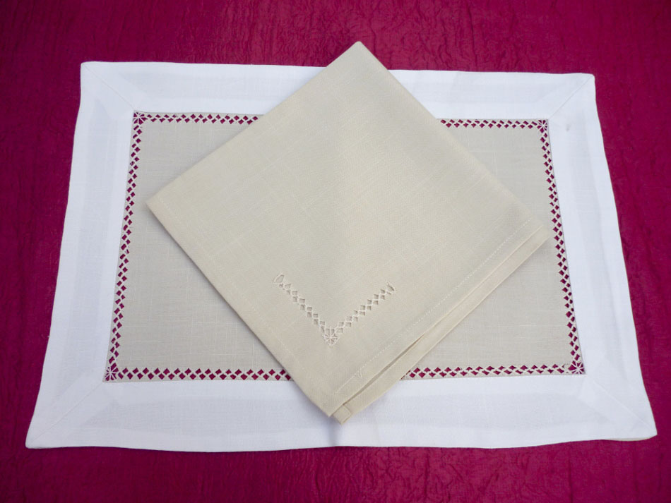 Placemats with azure