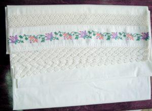 Vintage handmade white sheet