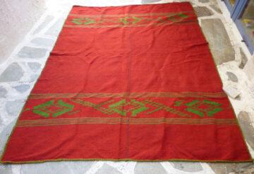 Vintage handwoven blanket/ throw
