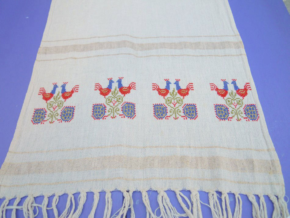 Vintage handmade table runner