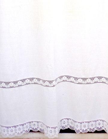 Vintage curtain with atrante