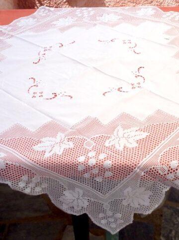 Handmade tablecloth with crochet