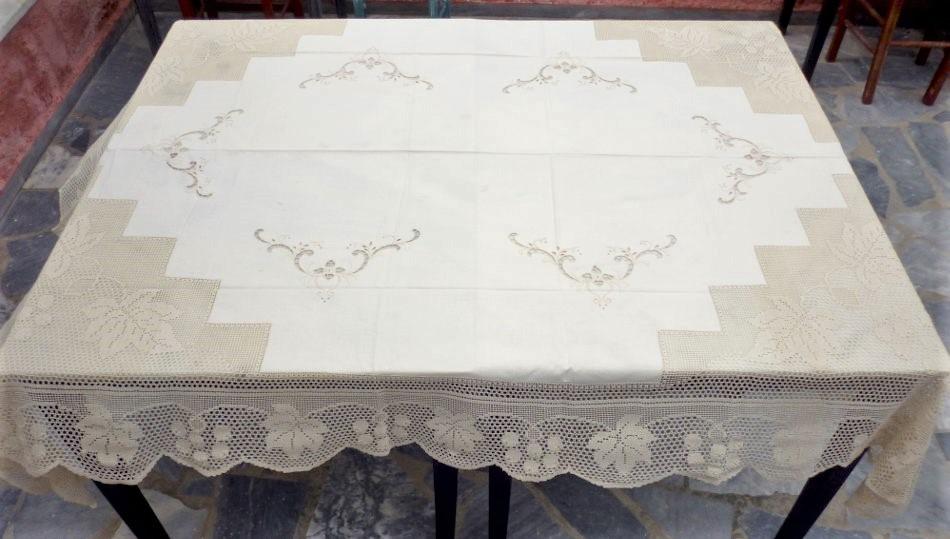 Cutwork handmade tablecloth