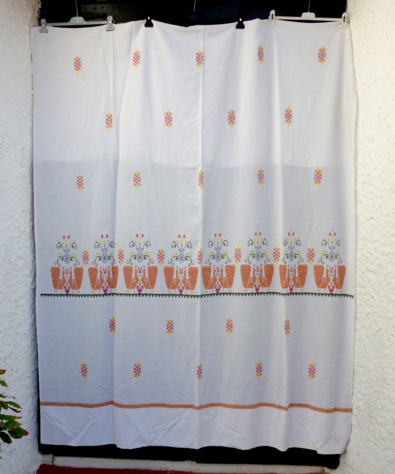 Vintage handwoven curtain