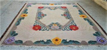 Vintage wool kilim/rug in the loom