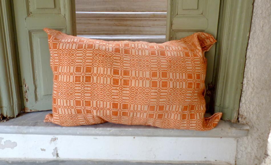 Vintage handwoven pillow case