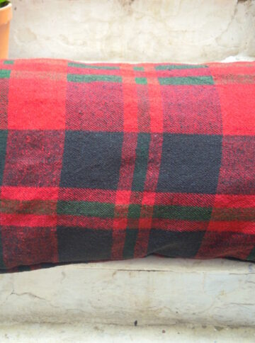 Wool handwoven pillow cover
